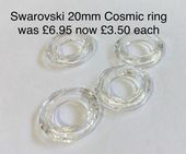 Swarovski  20mm Cosmic Ring Pendant Crystal
